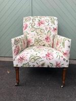 Antique English Upholstered Armchair (2 of 7)