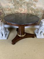 19th Century Marble Top Centre Table with Ormolu Band (3 of 6)