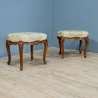 Pair of Rococo Style Stools