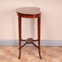 Edwardian Inlaid Mahogany Kidney Shape Occasional Table (7 of 15)
