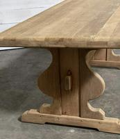 French Oak Trestle Farmhouse Dining Table (12 of 14)