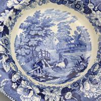 Dillwyn & Co Swansea -Pottery Plate in Blue & White Transferware c.1820 (2 of 5)