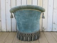 Antique French Napoleon III Armchair & Stool (9 of 10)