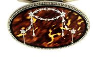 "Sterling Silver & Tortoiseshell 5"" Trinket Box - Mappin & Webb 1931 (9 of 10)"
