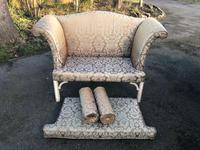 Antique English Small Upholstered Sofa (8 of 8)