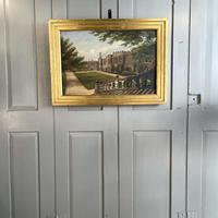 Antique Oil Painting Study of Haddon Hall Derbyshire Signed A E Richmond 1882 (9 of 9)
