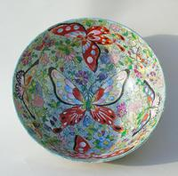 Antique Chinese Porcelain Bowl with Butterflies Famille Rose (4 of 12)