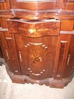 Ornate Italian Style Inlaid Display Cabinet on Cupboard Base (4 of 4)
