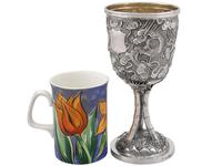 Chinese Export Silver Goblet - Antique c.1900 (3 of 9)