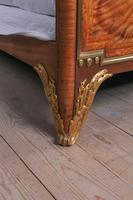 Spectacular and Beautiful Fruitwood Inlay Rococo King Size Bed (3 of 10)