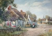 J.W.Miliken Pair of Watercolours 'Evening Ince Blundell & Afternoon Near Chipping, Camden' (3 of 5)