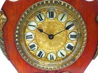 Antique French Mahogany & Ormolu Boulle Mantel Clock Shield Boulle Case. (3 of 7)