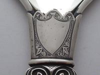Rare and Unusual Edwardian 1902 Solid Hallmarked Silver Hand Mirror (4 of 6)
