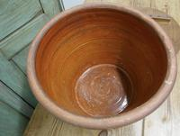Victorian Earthenware Cream Crock with Pine Lid (3 of 6)