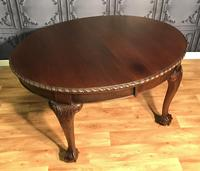 Edwardian Mahogany Extending Dining Table Two Leaves (14 of 16)