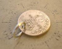 Antique Pocket Watch Chain Fob 1920 Silver Lucky Three Pence Old 3d Coin Fob (5 of 6)