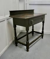 Carved Gothic Oak Side Table (6 of 8)