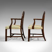 Pair of Antique Hepplewhite Revival Carvers, Mahogany, Armchair, Victorian (7 of 12)
