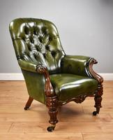 William IV Hand Dyed Leather Armchair