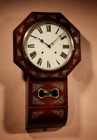 An Interesting Drop Dial American Wall Clock, Second Half 19th century. (6 of 12)