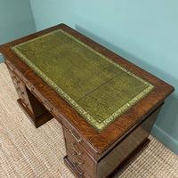 Quality Oak Victorian Antique Pedestal Desk (3 of 8)