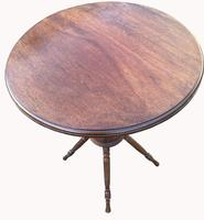 Lovely Circular Walnut Arts & Crafts Wine Table (6 of 6)