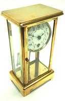 Fine Antique French Table Regulator with Visible Pendulum 8 Day 4 Glass Mantel Clock (3 of 10)