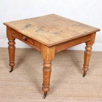 19th Century Pine Dining Table Fitted Drawer (7 of 11)