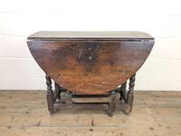 18th Century Antique Oak Gateleg Table (10 of 10)