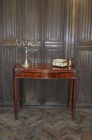 Chippendale Serpentine Mahogany Card Table (2 of 10)