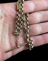 Antique Victorian 9ct Gold Albert Chain, Fancy Link (12 of 12)