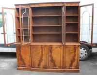 1960s Large Mahogany 4 Door Breakfront Bookcase with Glazed Top (3 of 6)