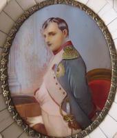 Hand Painted Miniature Portrait Napoleon Bonapart After Dumont (3 of 3)