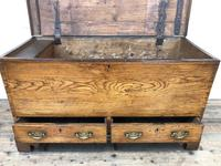 18th Century Elm Mule Chest with Hinged Top (9 of 14)