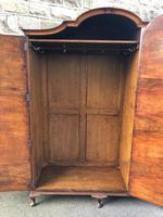 Antique Figured Walnut Triple Wardrobe (11 of 13)