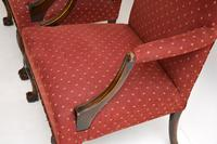 Pair of Antique Mahogany Chippendale Style Armchairs (2 of 12)