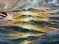 "Seascape Oil Painting Naval Frigate Ships Napoleonic War Sea ""Battle Trafalgar"" (17 of 25)"