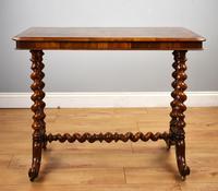 19th Century Victorian Burr Walnut Centre Table (2 of 10)