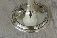 Good Pair of Antique Brass Church Candlesticks Ecclesiastical Candlesticks c.1900 (5 of 6)
