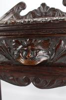 Antique Victorian Gothic Revival Oak Hall Table (11 of 13)