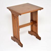 Antique Arts & Crafts  Elm Writing Table (4 of 8)