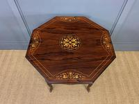 Inlaid Rosewood Table by James Shoolbred (7 of 11)