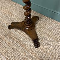 High Quality Barley Twist Victorian Mahogany Antique Occasional Table (7 of 7)