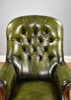 William IV Hand Dyed Leather Armchair (6 of 12)