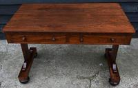 Superb Quality Regency Rosewood Library Table / Desk / Hall Table (3 of 7)