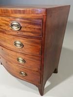 Handsome Regency Period Mahogany Bow Fronted Chest of Drawers (4 of 5)