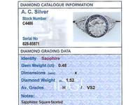 2.59 ct Diamond, 0.48ct Sapphire & Platinum Dress Ring  c.1930 (5 of 9)