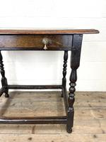 18th Century Antique Oak Side Table (4 of 11)