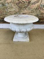 French Solid White Marble Urn (2 of 4)