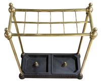 Victorian Brass Stand with Drip Pans (6 of 6)